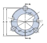 PHF TB3535X65 MM коническая  втулка SKF