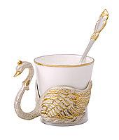 """Чашка кофейная """"Лебедь"""" (в ассортименте) - Купить в Казахстане"""