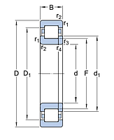 NUP 2215 ECML/C3  подшипник SKF