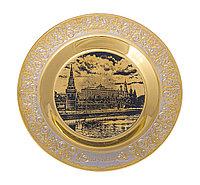 """Тарель""""Москва - Кремль"""" гравюра ( диаметр 190мм.) - Купить в Казахстане"""