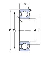 6206-2Z/C3 E.2   Энергосберегающий  подшипник SKF