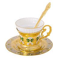 """Набор чайный """"Яблочко Мартовское"""" ( тарель, чашка, ложка) - Купить в Казахстане"""
