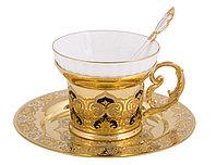 """Набор чайный """"Яблочко"""" (тарель, чашка, ложка) - Купить в Казахстане"""