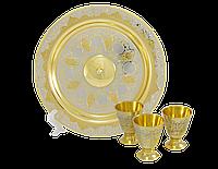 Набор водочный ( тарель, 3 рюмки ) - Купить в Казахстане