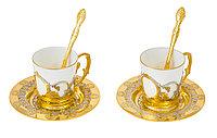 """Набор кофейный """"Доброе утро"""" на 2 персоны (2 тарели d110, 2 чашки, 2 ложки) - Купить в Казахстане"""