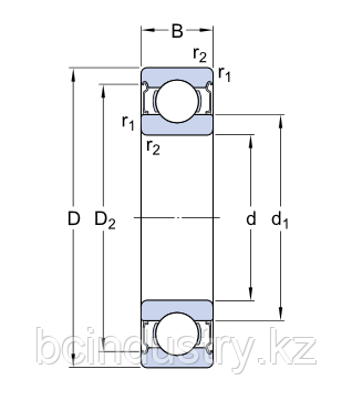 6308-2Z/C3 E.2 Энергосберегающий  подшипник  SKF