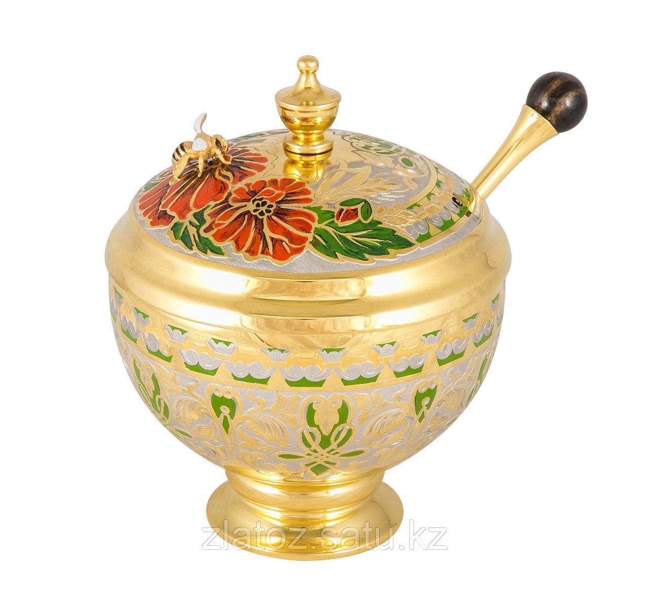 """Медовница """"Пчёлка"""" (эмаль) - Купить в Казахстане - фото 1"""