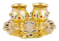 """Набор для напитков """"Праздник Граната"""" ( 2 бокала, поднос ) - Купить в Казахстане"""