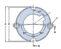 PHF TB3020X55MM   конические втулки SKF