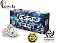 Шарики для настольного тенниса EXPERT 3* ITTF (10 мячей в упаковке, белые), фото 1