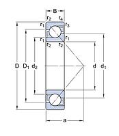 7212 CD/P4ADBA SKF  (B7212CTP4SUL FAG)  подшипник