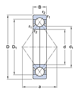QJ 310 MA/C2L   подшипник  SKF