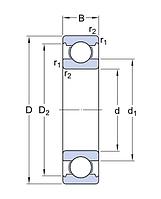 6205 ETN9/C4   подшипник SKF