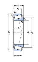 M 84510/2/QCL7C подшипник  SKF