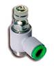 """T290614P - Дроссель с обратным клапаном для цилиндра, Dт=6мм, 1/4"""""""