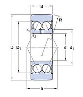 305702 C-2Z обводной ролик SKF