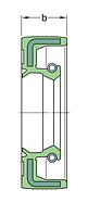 CR 40X62X8 HSM5 RG   Манжетное уплотнение SKF