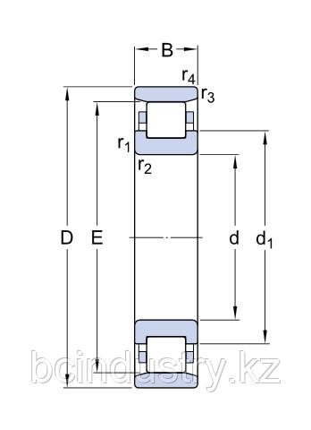 N 312 ECM/C3  полшипник SKF