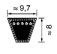 Не использовать SPZ1202 ремень Optibelt SK