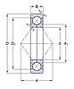 QJ 307 N2MA/C2L   подшипник  SKF
