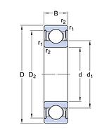 6024-2ZR/C3   подшипник SKF