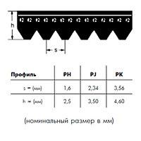PJ 381 4 ремень Optibelt RB