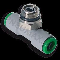 T201014 - Фитинг-тройник цанговый поворотный, тип ''Т'', Dт=10 мм, 1/4''