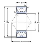 3302A-2RS1TN9/MT33   подшипник SKF