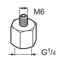 LAPN 6    Переходник   G 1/4 - M6 SKF