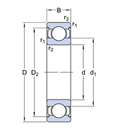 6208-2Z/C3 E.2   Энергосберегающий  подшипник SKF