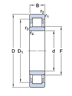 NU 1028 M/C3  подшипник SKF