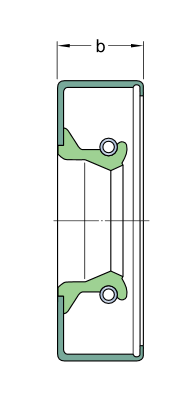 25X37X7 CRW1R  манжетное уплотнение SKF
