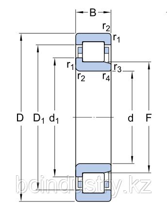 NJ 2315 ECP/C4VQ015   подшипник SKF
