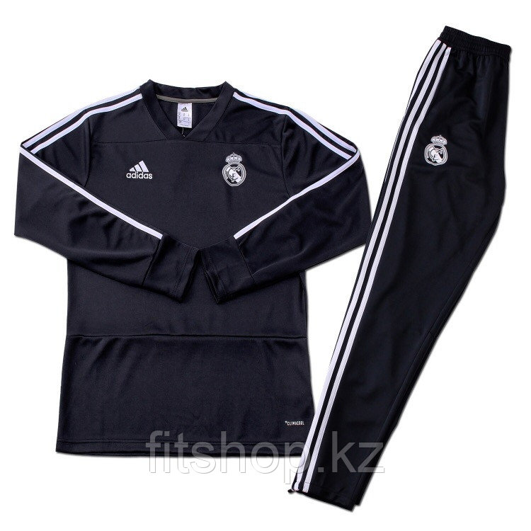Тренировочный спортивный костюм Реал Мадрид 2018/2019 черный подростковый