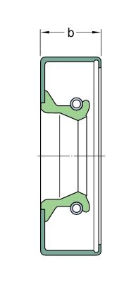 35X72X8 CRW1 R манжетное уплотнение SKF