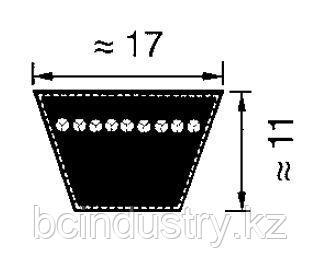 B39 ремень Optibelt VB  (расчетная длина нар 1040- вн.1000)