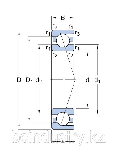 7011 ACD/P4ADBA   подшипник SKF