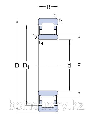 NU 238 ECM/C3  подшипник SKF