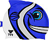 Детская шапочка для плавания TYR Charactyrs Happy Fish Cap 420, фото 2