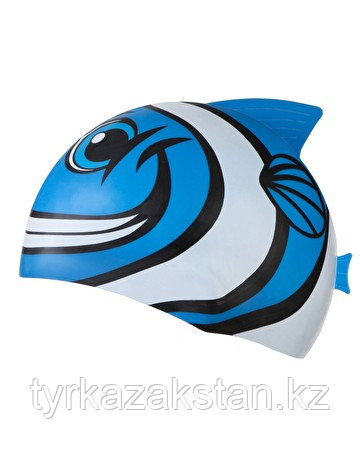 Детская шапочка для плавания TYR Charactyrs Happy Fish Cap 420