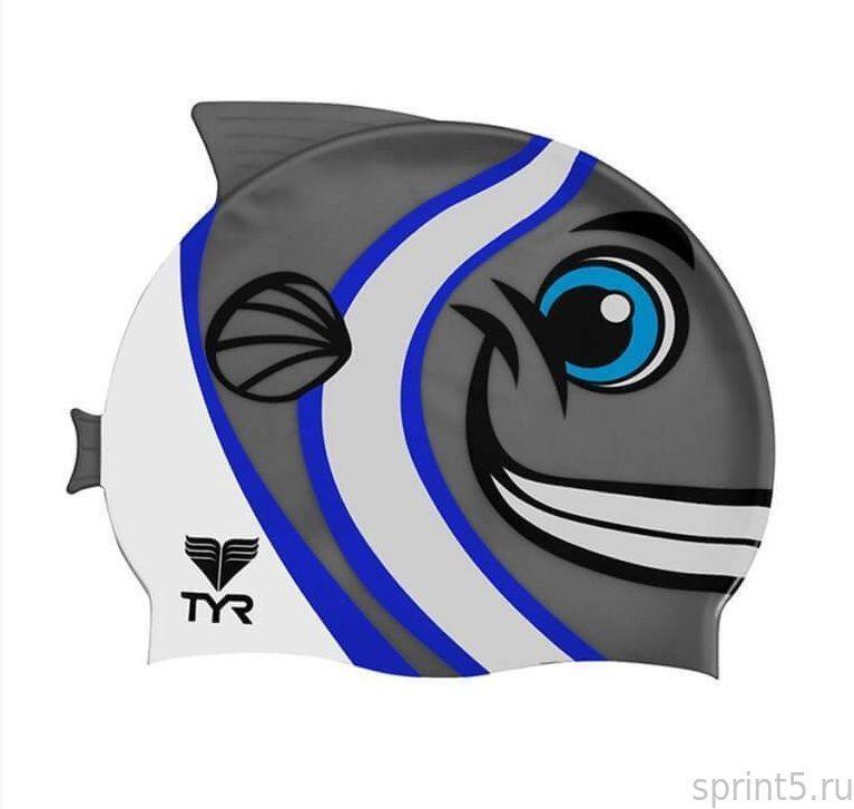 Детская шапочка для плавания TYR Charactyrs Happy Fish Cap 010