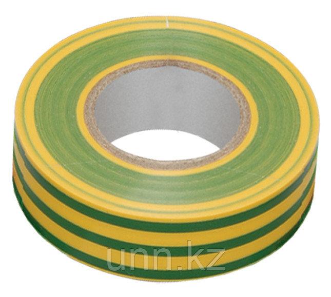 Изолента 0,13*15 мм желто-зеленая 10 метров ИЭК