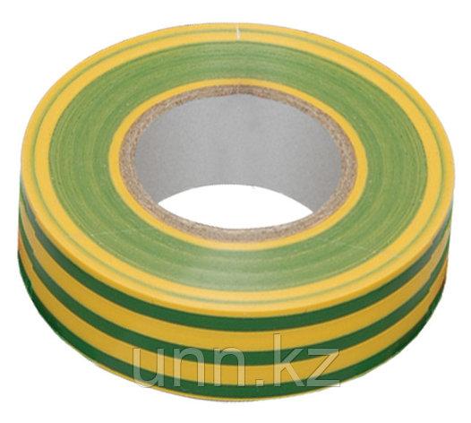 Изолента 0,13*15 мм желто-зеленая 10 метров ИЭК, фото 2