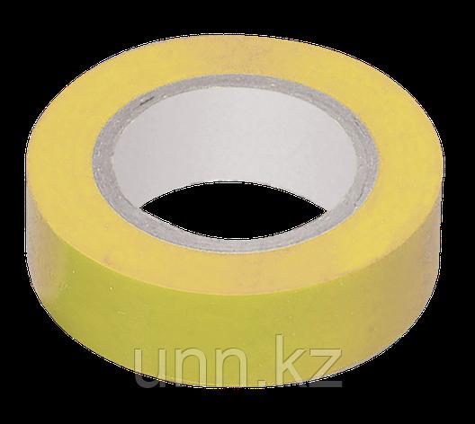 Изолента 0,13*15 мм желтая 20 метров ИЭК, фото 2
