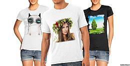 Сублимационная печать на футболке А4