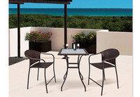 Набор мебели, стол+2стула, искусственный ротанг
