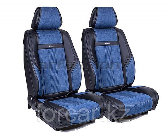 Накидки 3D на передние сиденья «Jeans», фото 2