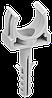 Держатель с защёлкой и дюбелем CT16 (без винта) IEK