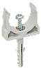 Держатель с защёлкой и дюбелем CT20 IEK (10 шт/упак)