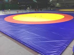Ковер борцовский (трехцветный) 10х10м соревновательный толщина 5 см
